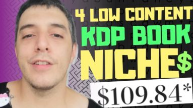 4 Hot Amazon KDP Low Content Book Niches Plus Free Method