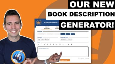 Kindlepreneur Book Description Generator 2.0 - Easily Create Book Descriptions