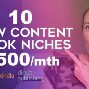 10 Low Content Book Niches That Make $500/month - Amazon KDP Niche Research