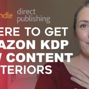 Where To Get Low Content Book Interiors For Amazon KDP - Kindle Direct Publishing Book Interiors
