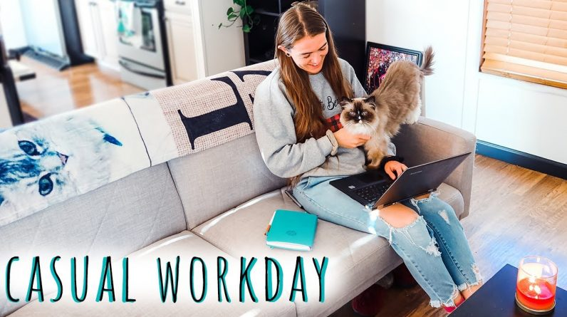 CASUAL WORKDAY VLOG 🖥️ Freelance editor day in the life | Natalia Leigh